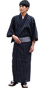 Blaue Yukata für Herren